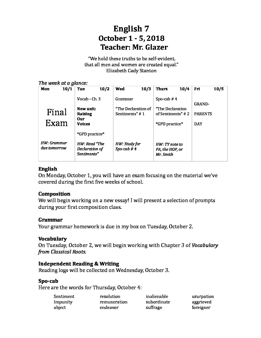 Apa Format Essay Example Paper Recent News Persuasive Essay Examples For High School also Thesis Of An Essay English  Oct     Crossroads Academy Persuasive Essays For High School